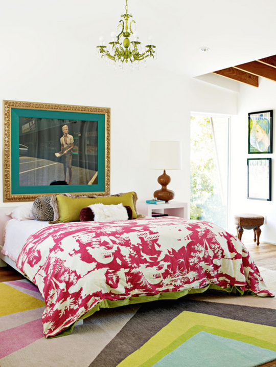 Colorful Bedrooms yes, it's possible: vividly colorful bedrooms with basic white
