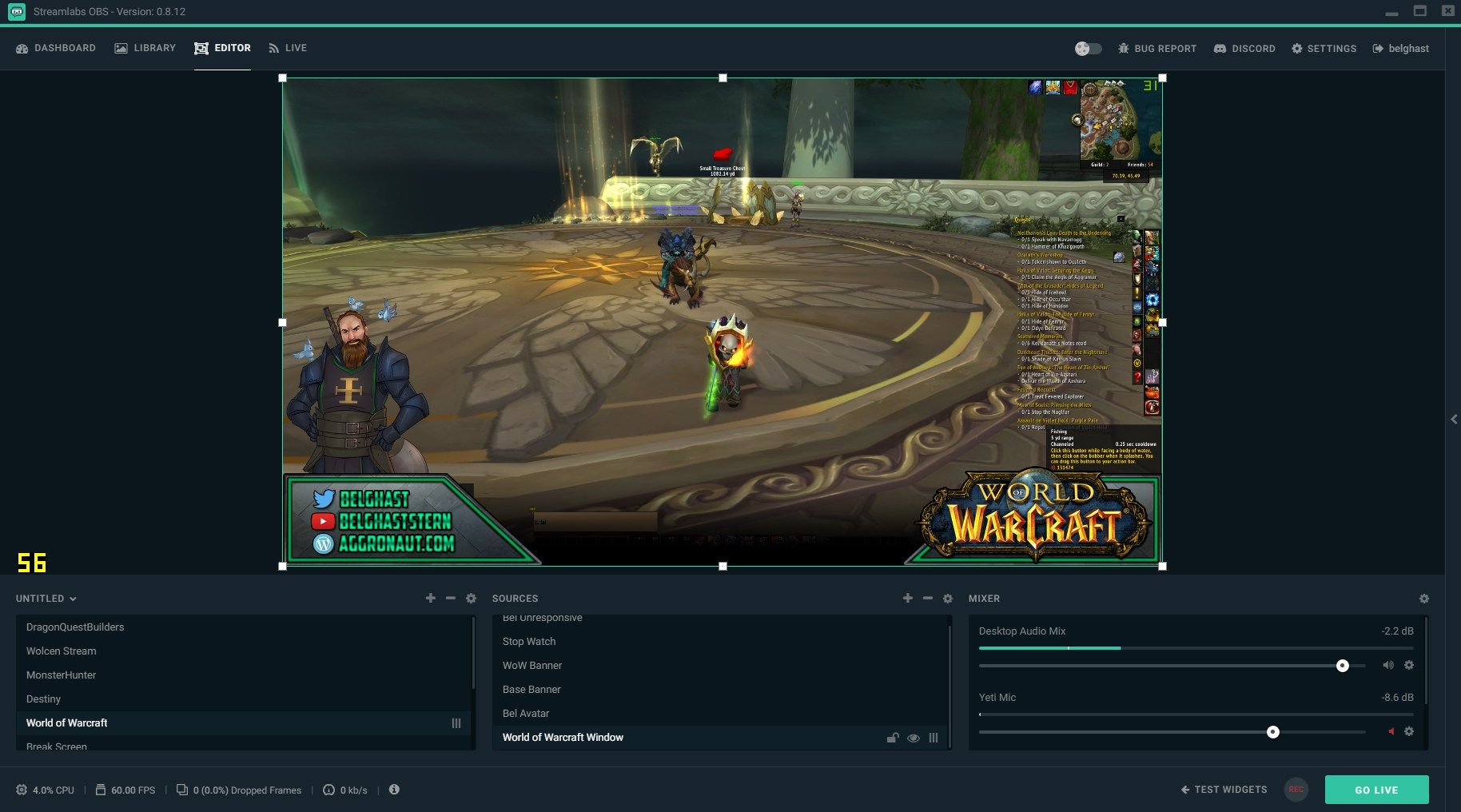 Streamlabs OBS is a free reliable streaming app with the