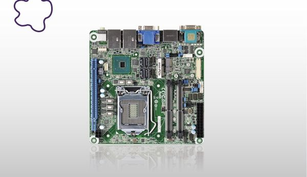 MINIITX FORM FACTOR BOARD HAS FOUR VIDEO OUTPUTS WITH UP