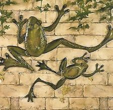 Frog Kitchen Decor | ... Frogs Metal Wall Art Set of 2 Home Kitchen Indoor Outdoor Patio Decor