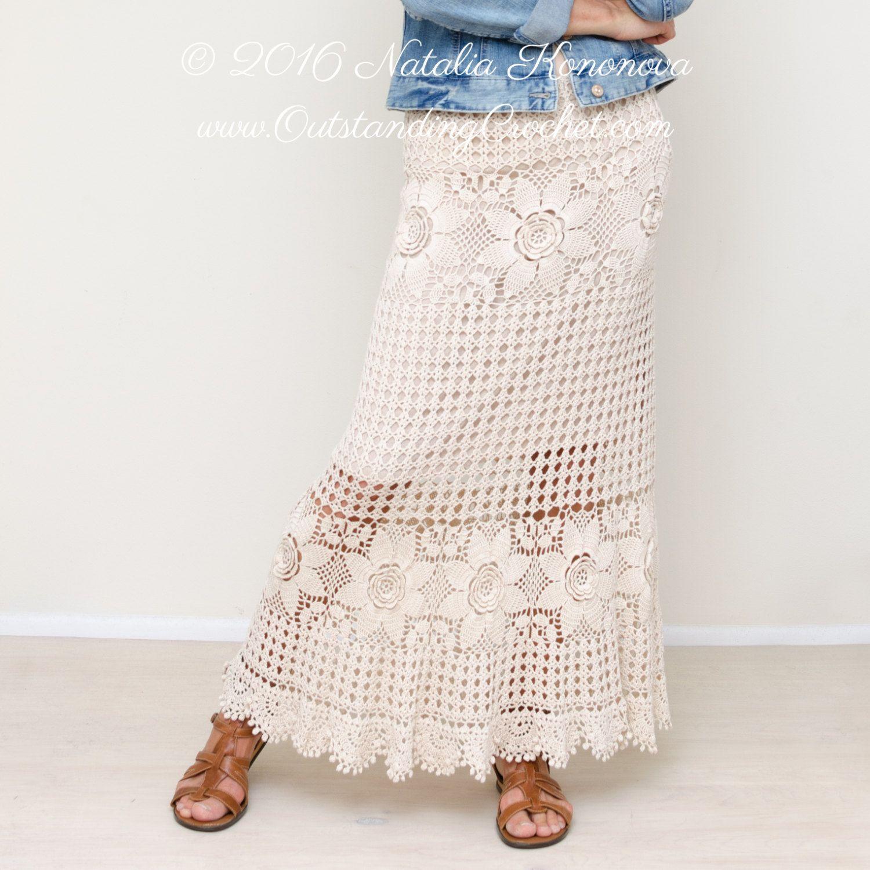 Crochet skirt pattern country fair crochet lace women tiered