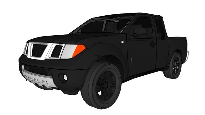 Large Preview Of 3d Model Of Nissan Navara Nissan Navara Nissan Nissan Pickup Truck