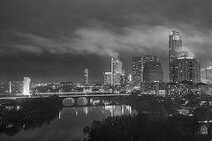 Austin Photos Foggy Night Over The Austin Skyline Austin Texas