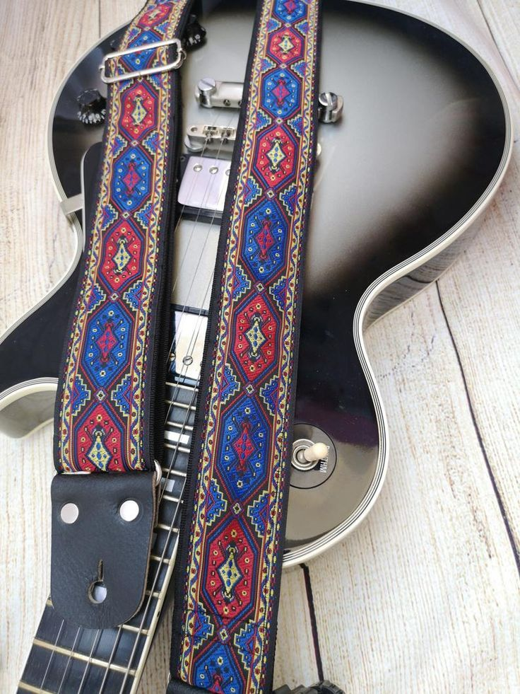 Guitar strap adjustable personalized strap etsy guitar