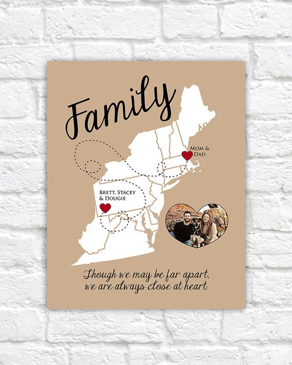 East coast map family gift moving away gift personalized art east coast map family gift moving away gift personalized art your photo gift for parents thank you gift mom and dad unique map negle Choice Image