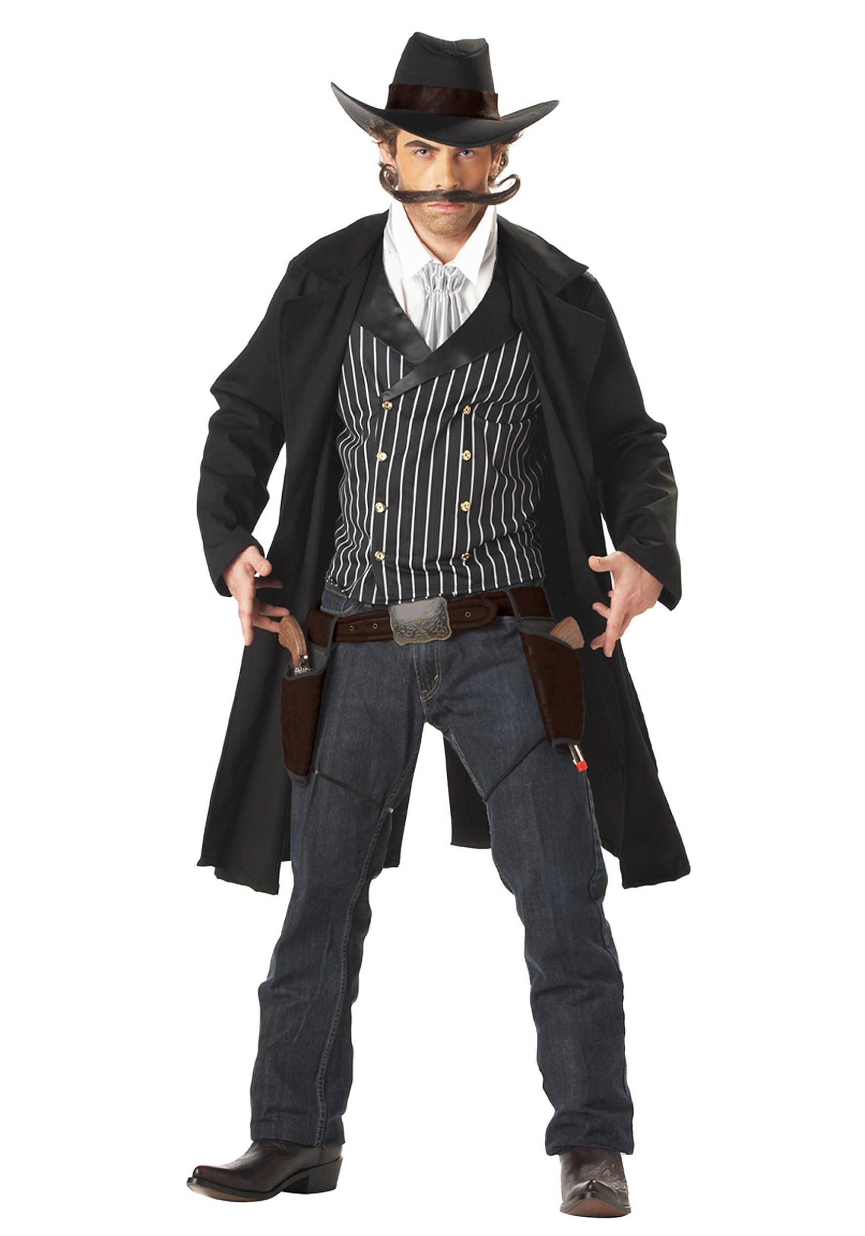 Cowboy Costume Adult Duster Coat Halloween Fancy Dress