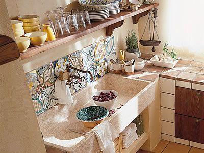Cucine in legno massello rustic chich componibili in muratura in ...
