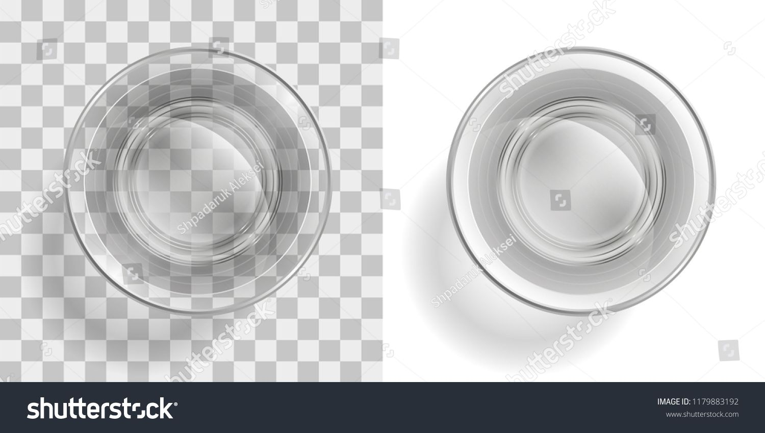 Vector Illustration Glass Of Water On A Transparent Background