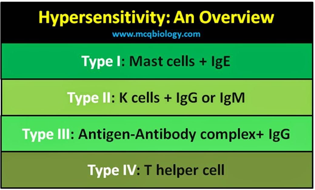 Multiple Choice Questions on Hypersensitivity Reactions ~ MCQ