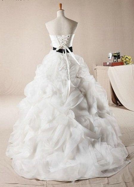 Make it emerald green!!Sweetheart Long Organza Wedding Dress With sash by DressHome