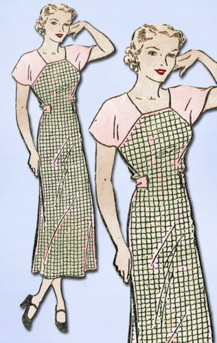 1930s Beautiful Hooverette House Dress Pattern Perfect Depression Style 40 Bust | eBay