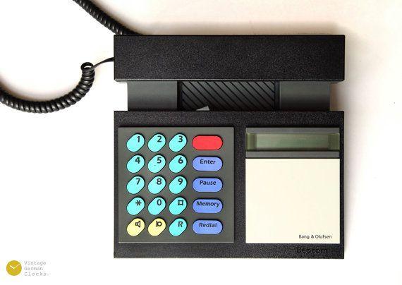 NICE 80s BANG & OLUFSEN BeoCom 2000 Telephone Black - Danish modern analog vintage