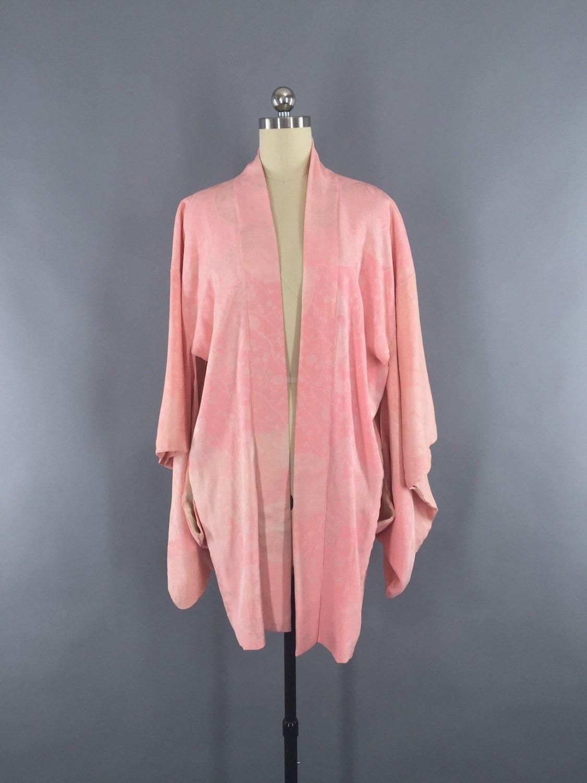 Vintage 1920s Vintage Silk Haori Kimono Cardigan / Cotton Candy ...