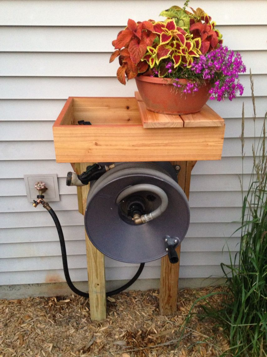 Rapid Reel Hose Reel Stand Holder Hose Reel Outdoor Decor Garden Tools