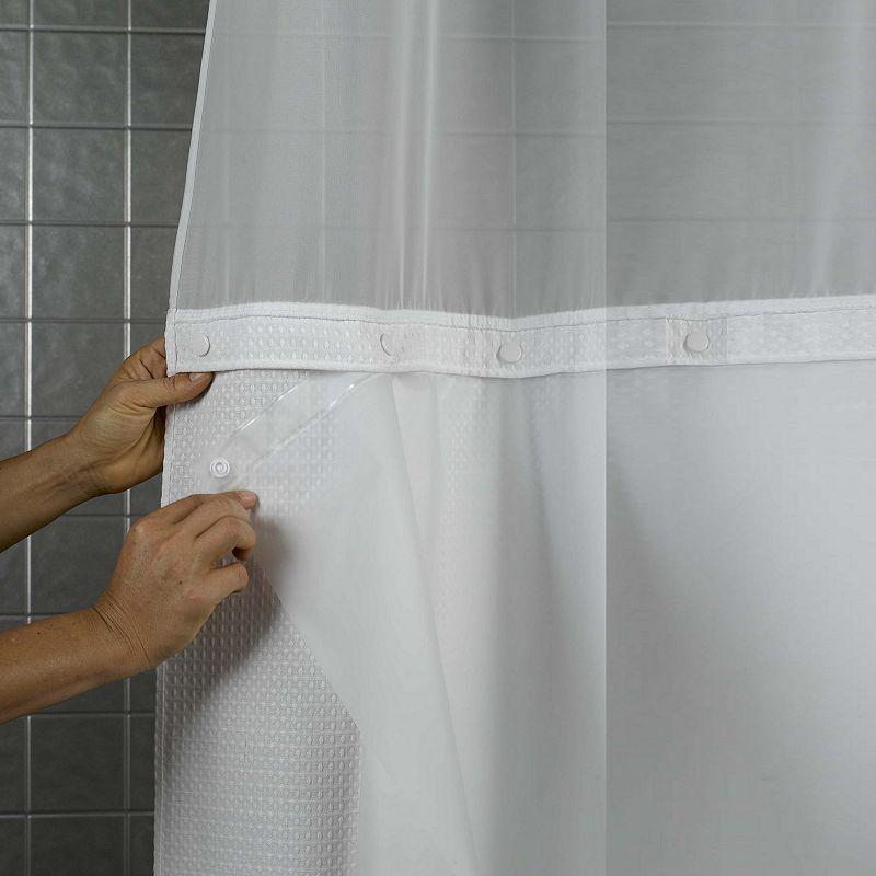 Hookless Peva Shower Curtain Liner Multicolor Fabric Shower
