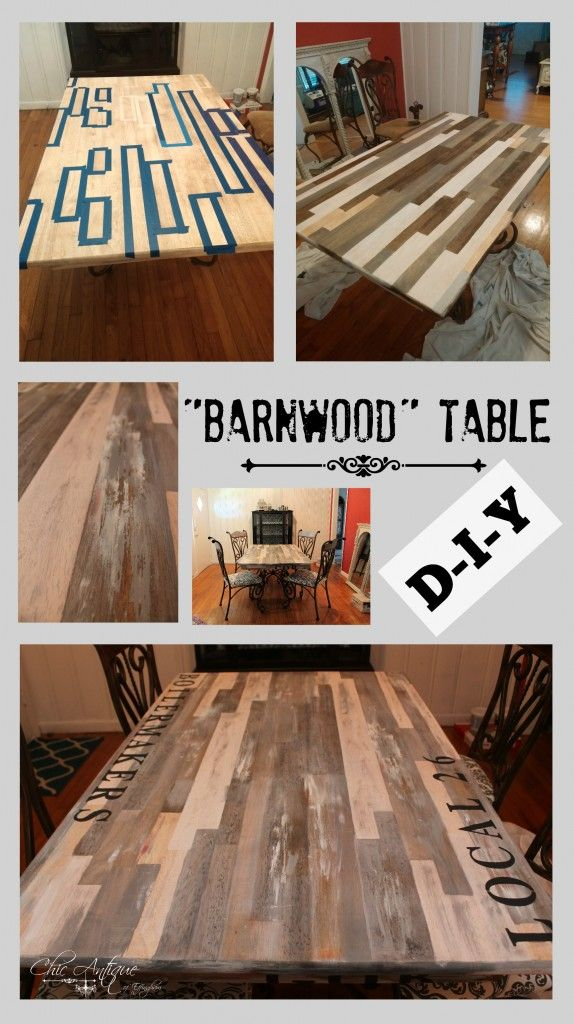 Check Out My New Faux Scrap Wood Table: I Really Like The Scrappy Look