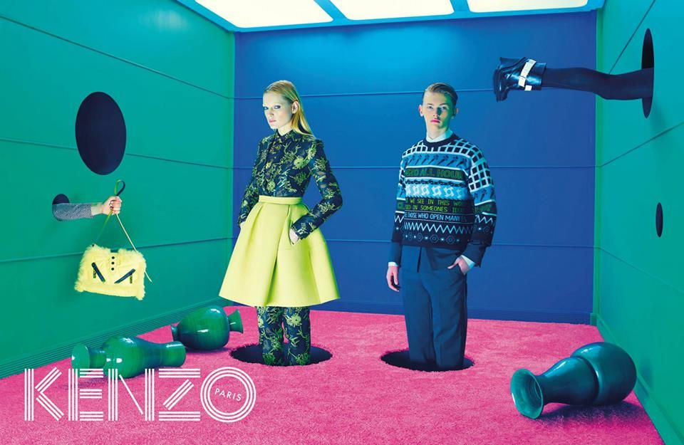 KENZO FW14 CAMPAIGN BY TOILETPAPER