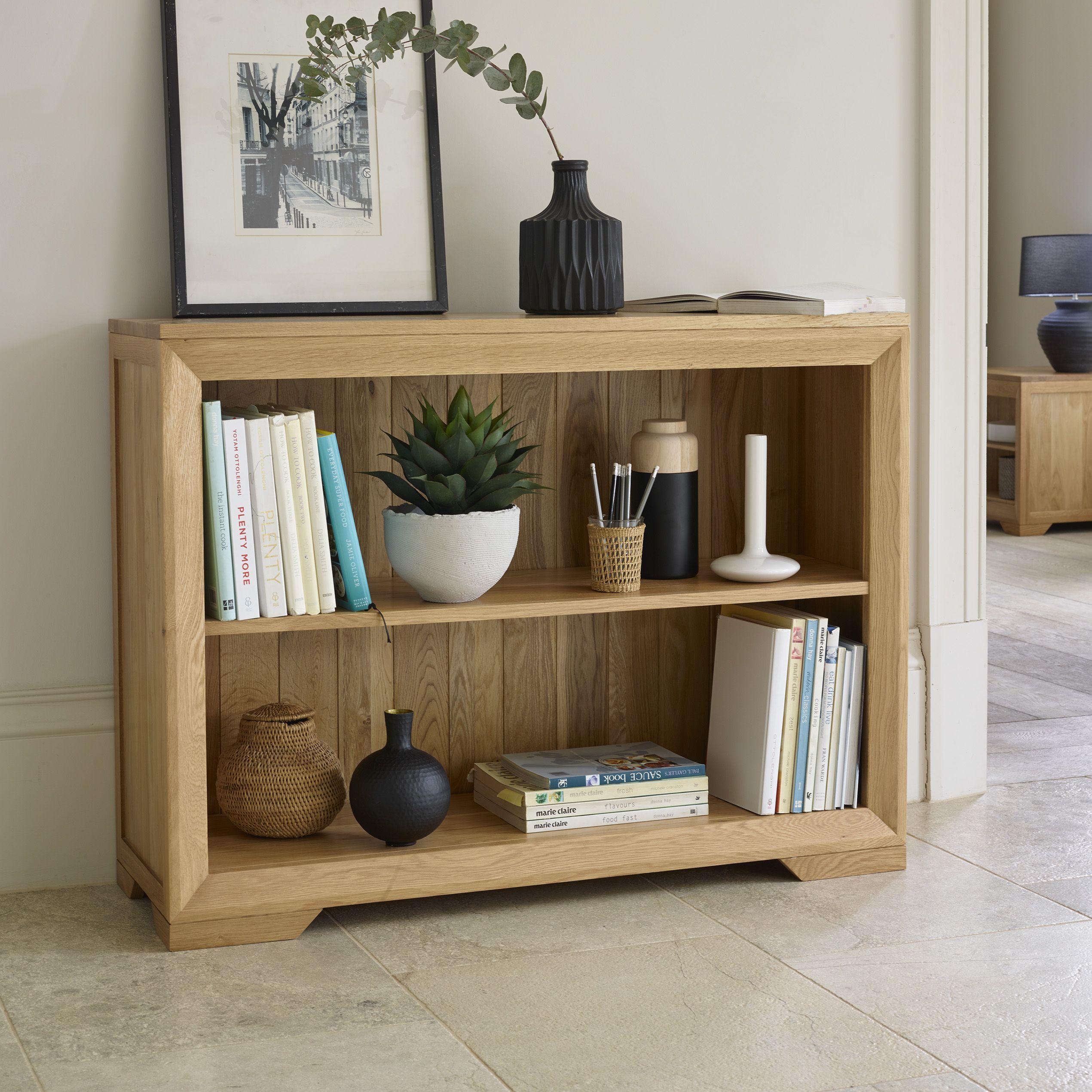 Bevel Natural Solid Oak Small Bookcase Small Bookcase Bookcase