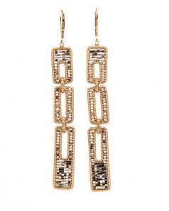 Image of Dana Kellin Rectangular Drop Link Earrings