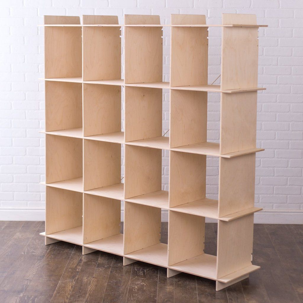 Modern 16 Cubby Storage Shelves Sprout Cube Storage Bookcase Storage Cube Storage Unit
