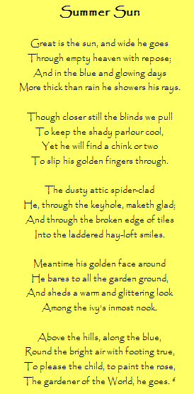 A poem by Robert Louis Stevenson - love the imagery