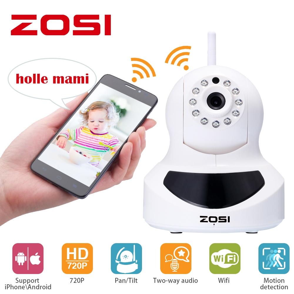 49 90$ Watch now - ZOSI Wifi IP Camera 720p Wireless Mini