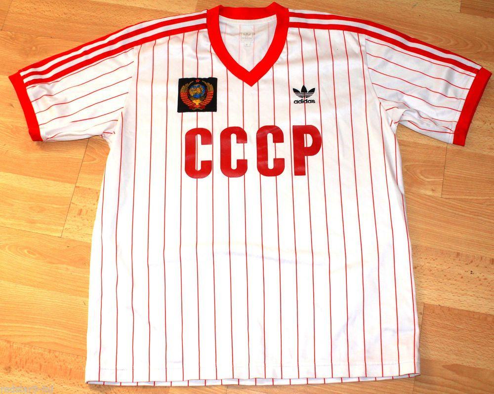 0f0a94aef6d ADIDAS ORIGINALS RARE 1980'S CCCP USSR RUSSIA SOVIET MINT CONDITION SHIRT M