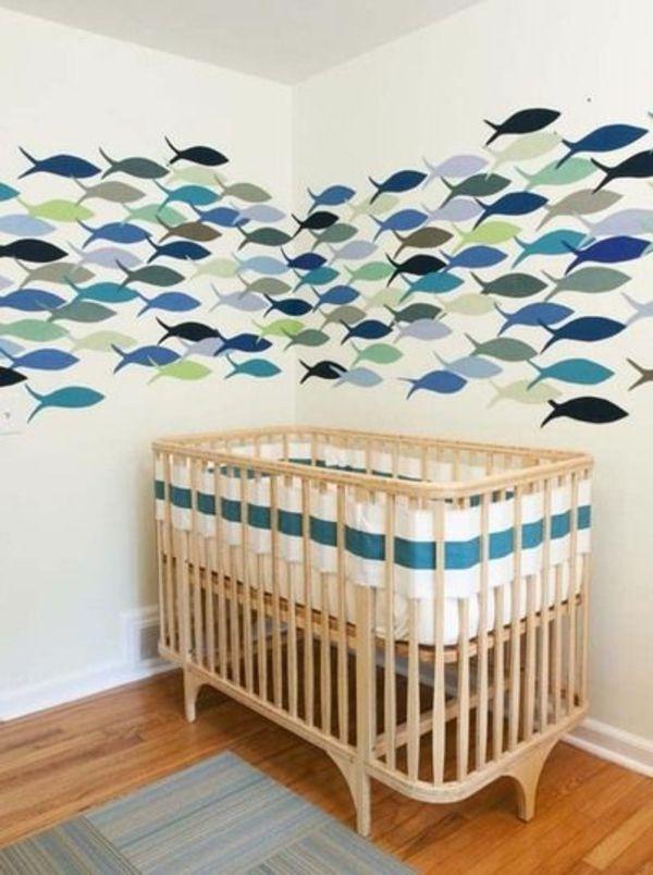 wandmalerei kinderzimmer einrichten fische - Wandbemalung Kinderzimmer