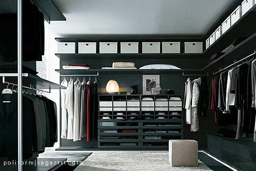 Poliform Ubik Inloopkast : Poliform closets closets walk in closet closet
