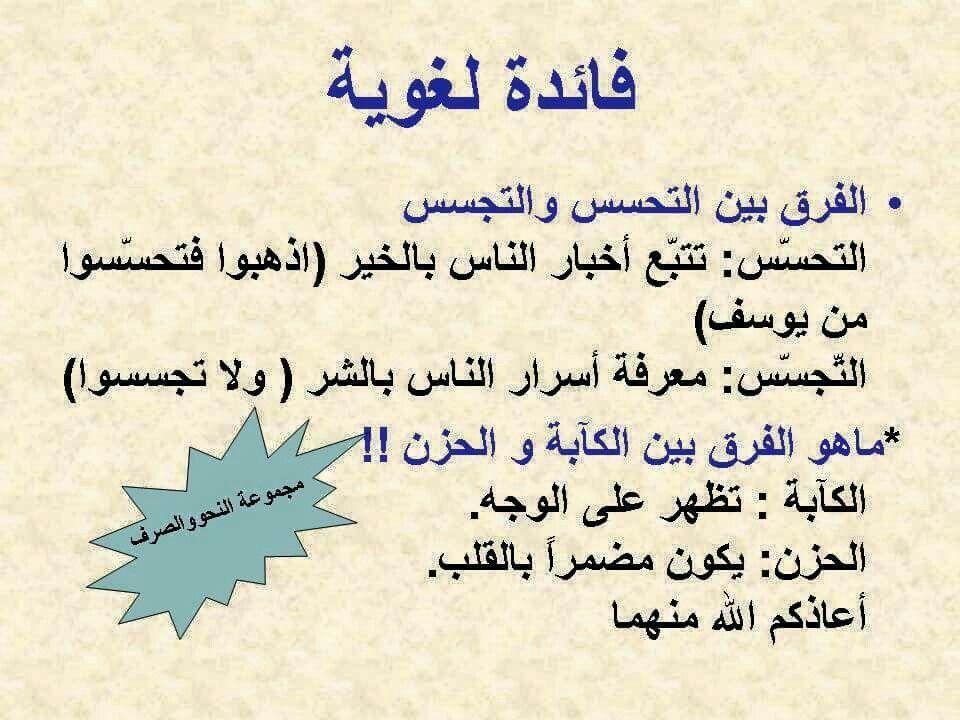 الفرق بين التحسس والتجسس Learn Arabic Language Arabic Language Learning Arabic