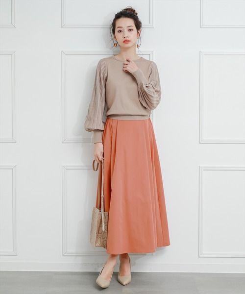 【2020最新】春夏秋冬で楽しめる♪オレンジスカートの大人コーデを大特集 | folk