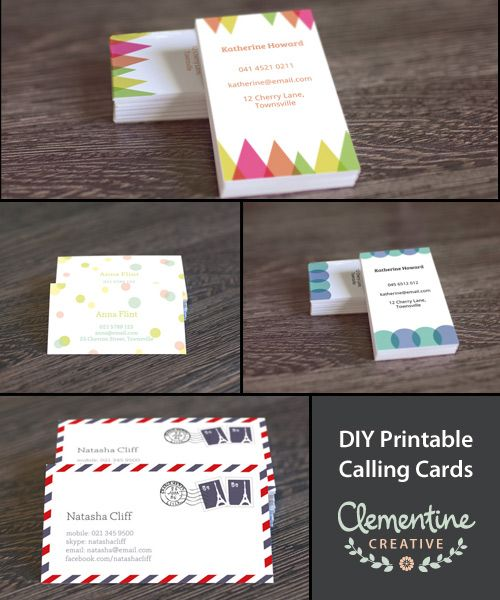 free diy printable business card template etsy pinterest free