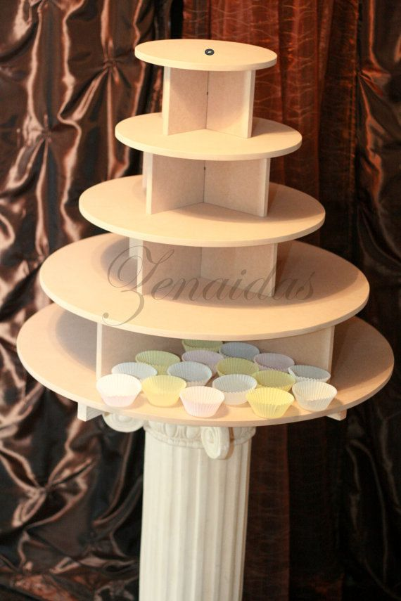 Cupcake Stand Large Round 150 Cupcakes Threaded Rod and Freestanding ...