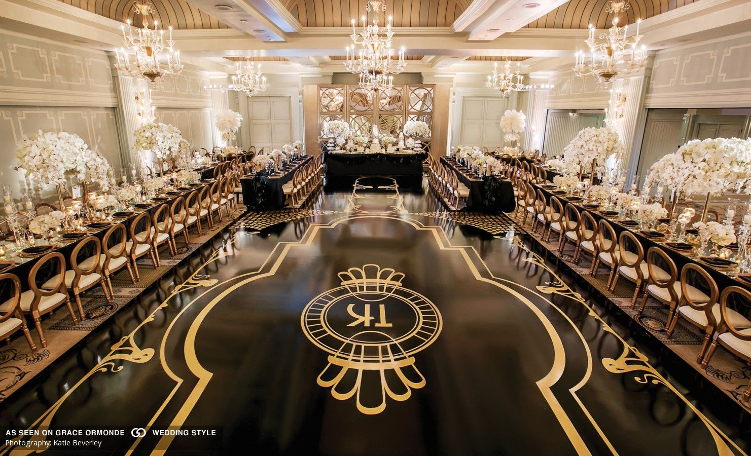Great Gatsby Inspired Decor In Black White And Gold Hues Dance