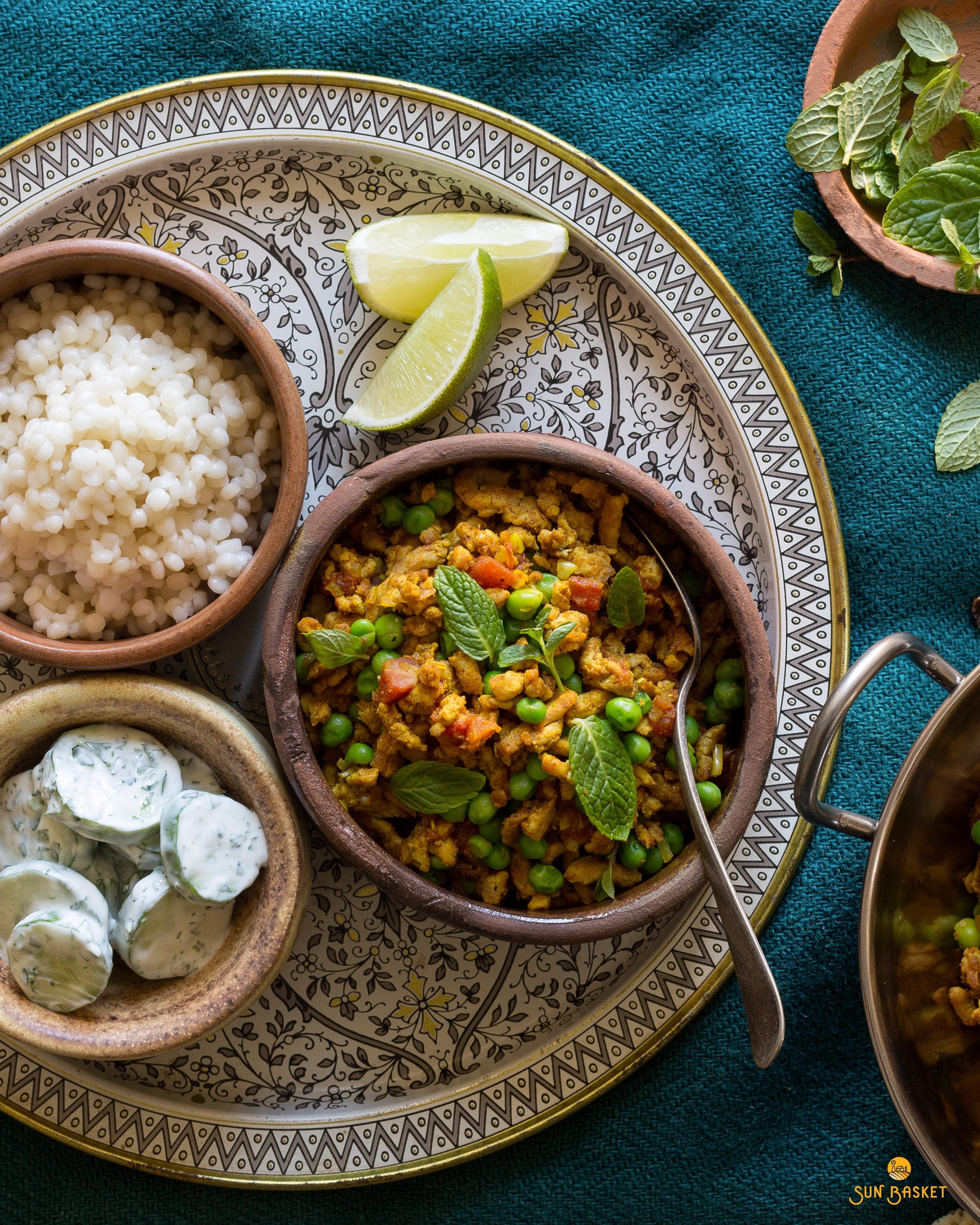 Turkey keema with peas and cucumber raita | Recipe in 2019 ...