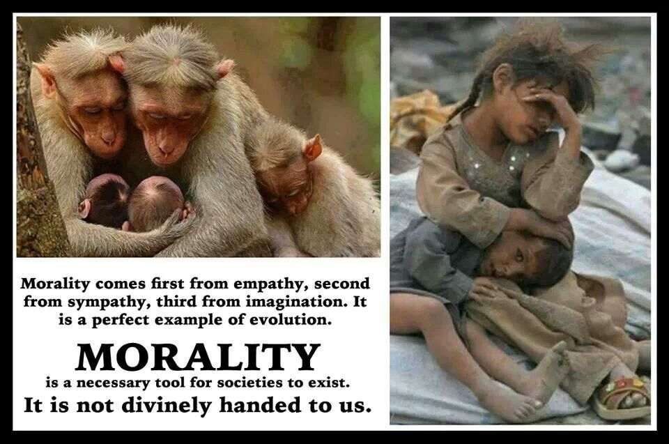 Morality is not divinely commanded. Humans are intrinsically moral creatures; we do not need morals handed to us from gods.