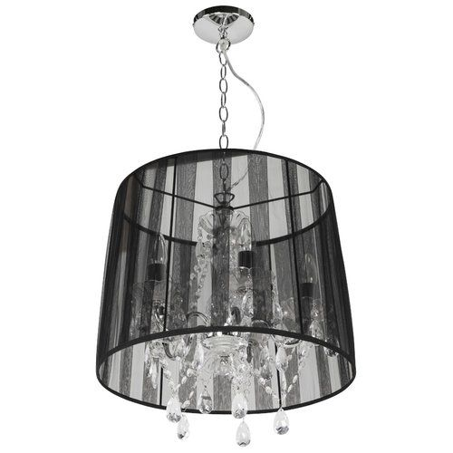 Bronte 5 Light Shaded Chandelier Ceiling Lamp Lampshade
