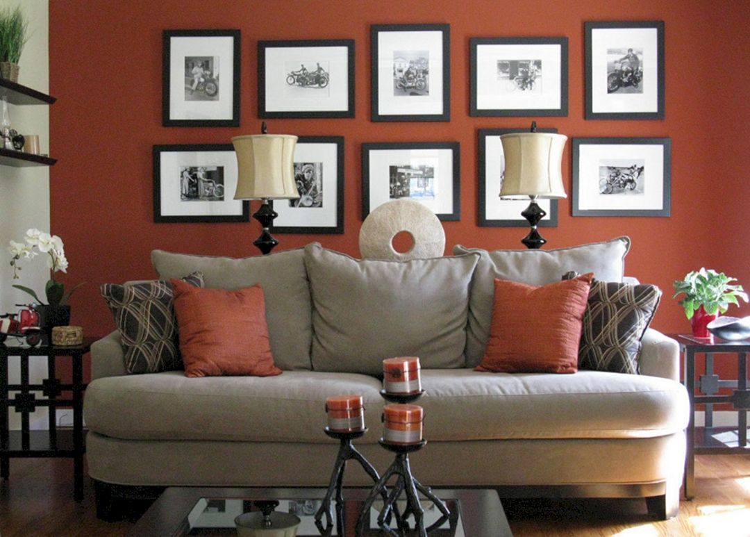 24 Amazing Rust And Grey Living Room Color Schemes