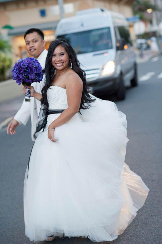 The new Mr. and Mrs. married at Hyatt Regency Waikiki