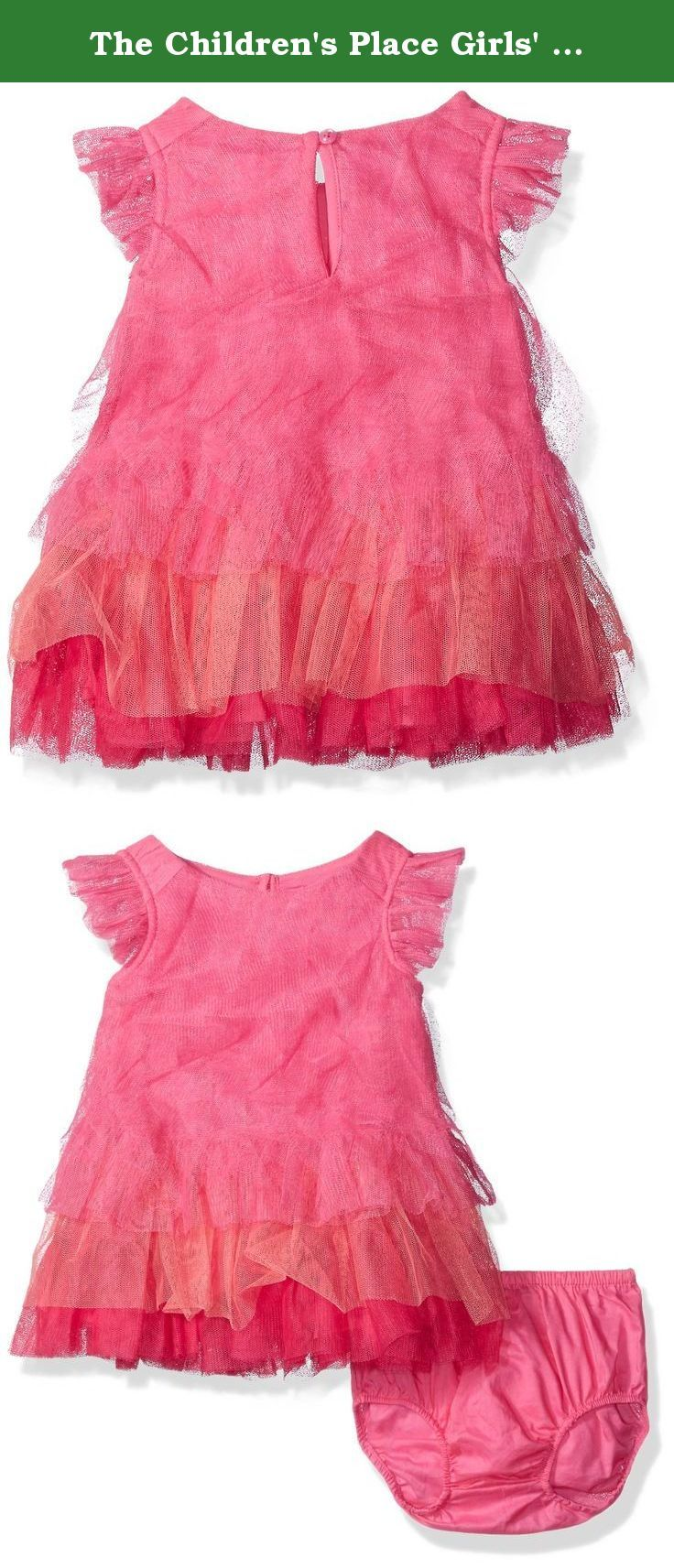 The Children's Place Girls' Ruffle Dress, Pink Blast, 6-9 Months. The dress for your darling debutante.