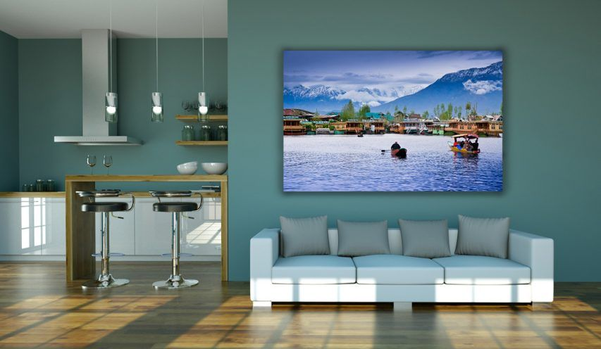 Living Room Wall Frame Mockup Free PSD