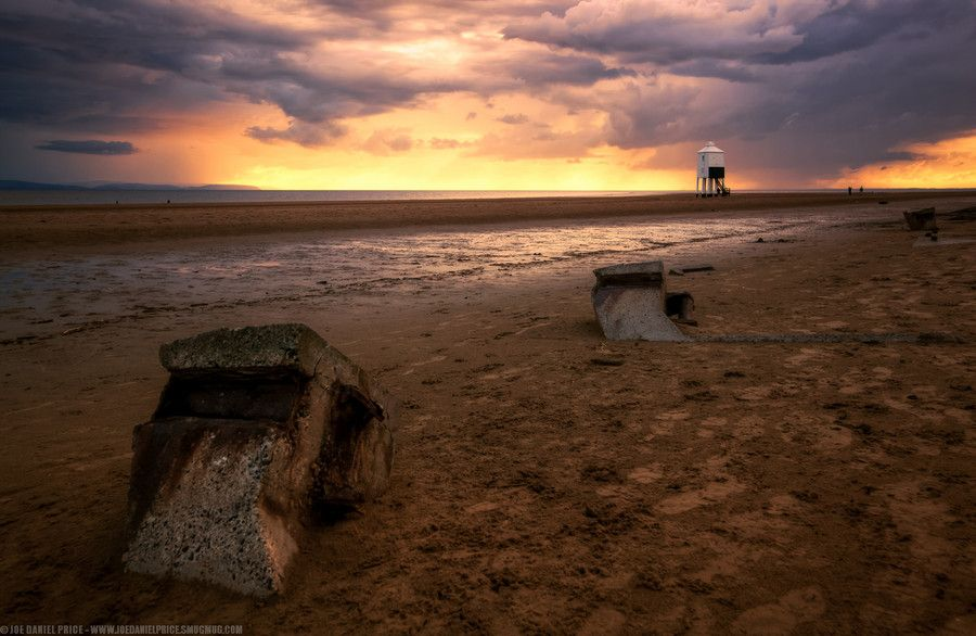 Stormy Sunset at Burnham on Sea Lighthouse, Somerset, England by Joe Daniel Price on 500px
