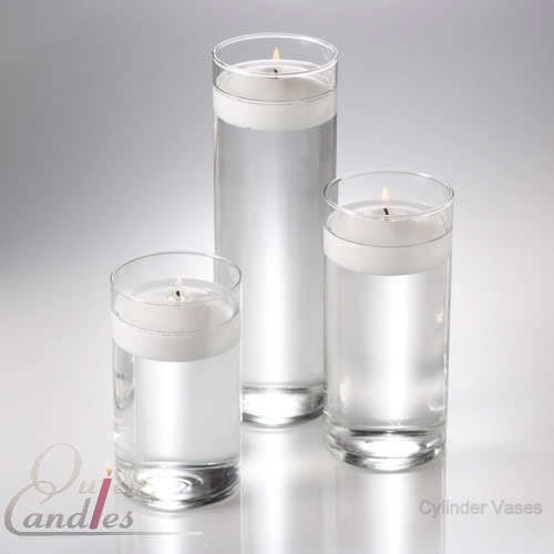3 Glass Cylinder Vases Wedding Centerpieces Candles Glass Cylinder