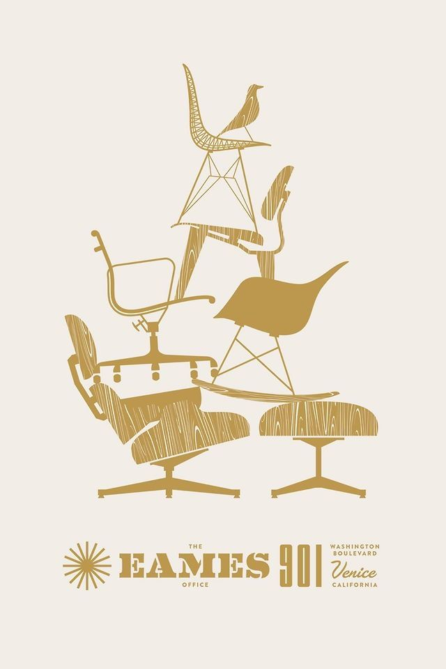 The eames office poster le container graphic design for Mobilier eames