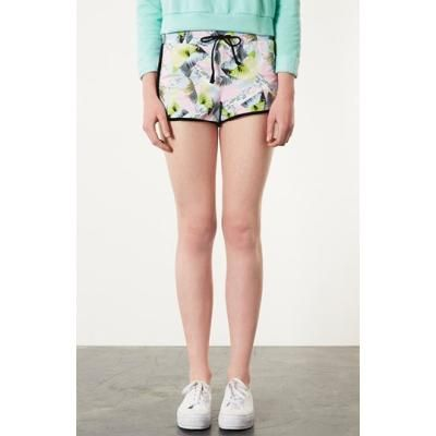 Topshop 'Beach Postcard' Running Shorts