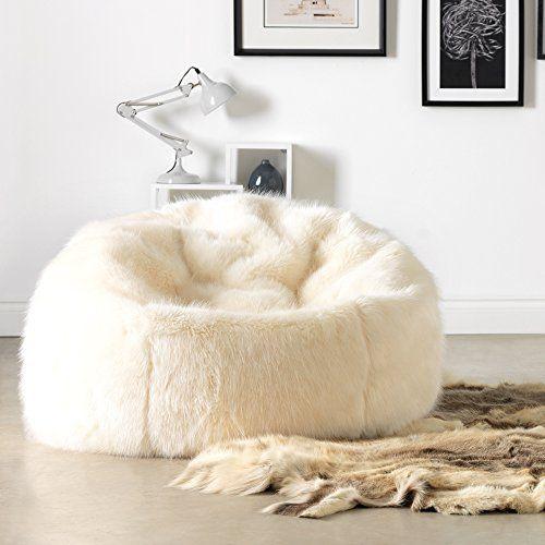 Große Lush Soft Tundra Wolf Webpelz Sitzsack Cloud