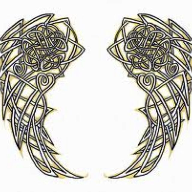 Tattoo Celtic angel wings