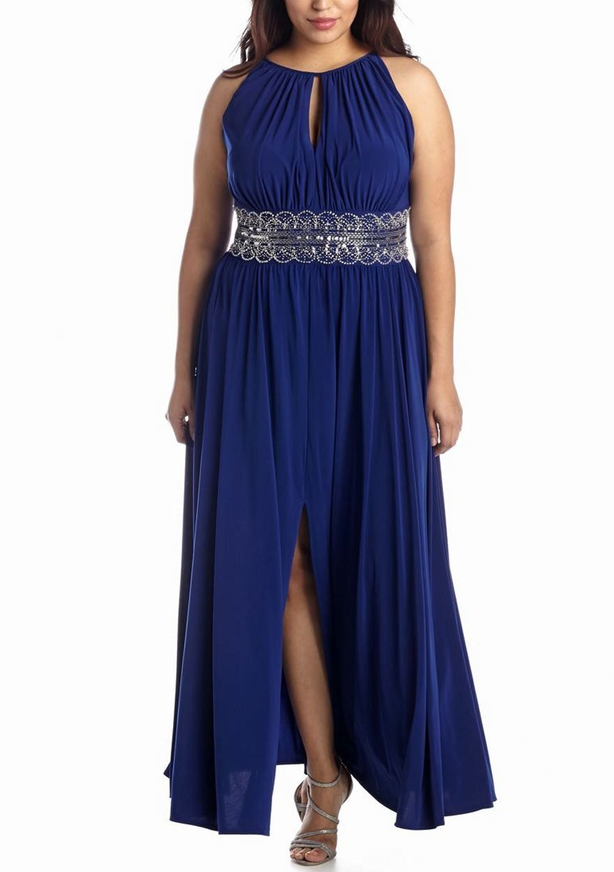 RM Richards Women\'s Plus Size Evening Gown - Red, Royal | Dresses in ...