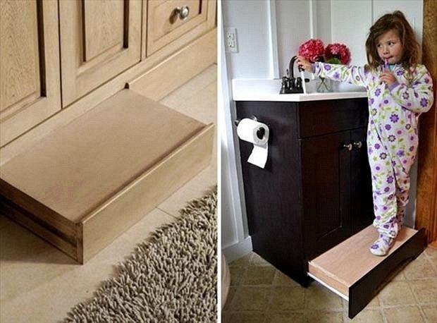 1 Pull Out Step Stool Under Bathroom Vanity 2 Cool Toilet