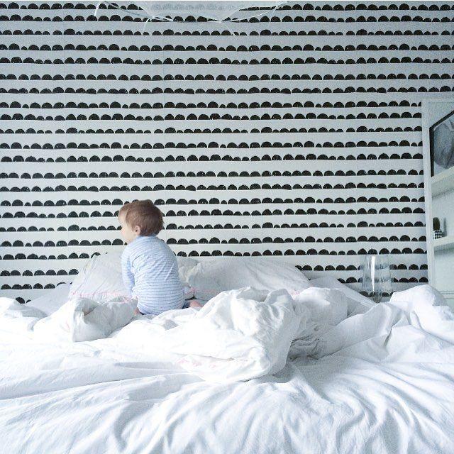 ferm LIVING Half Moon wallpaper: http://www.fermliving.com/webshop/shop/all-products/half-moon-wallpaper-black.aspx